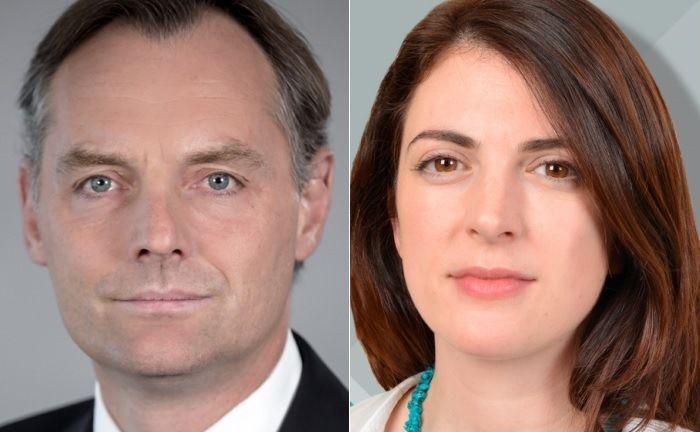 Nicolas Faller, Co-Leiter Asset Management der UBP, und Victoria Leggett, zuständig für verantwortungsvolles Investieren.