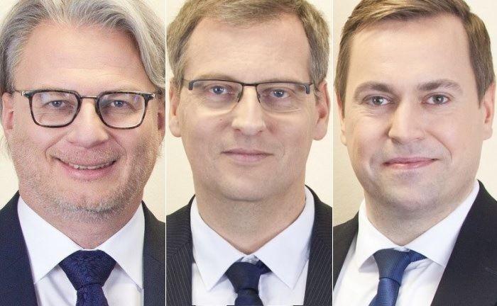 Fondsmanagement und zugleich Vorstandsteam der R.I. Vermögensbetreuung (v.l.n.r.): Heiko Hohmann, Bastian Bohl und Peter Ulrik Kessel.|© R.I. Vermögensbetreuung