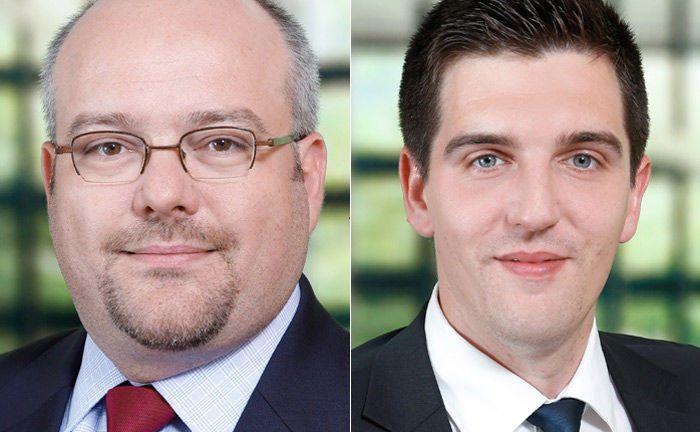 Dominik Moulliet (l.) und Thomas Völker von der Beratungsgesellschaft Deloitte Consulting.|© Deloitte