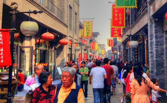 Belebte Straße in Peking.|© Good Free Photos