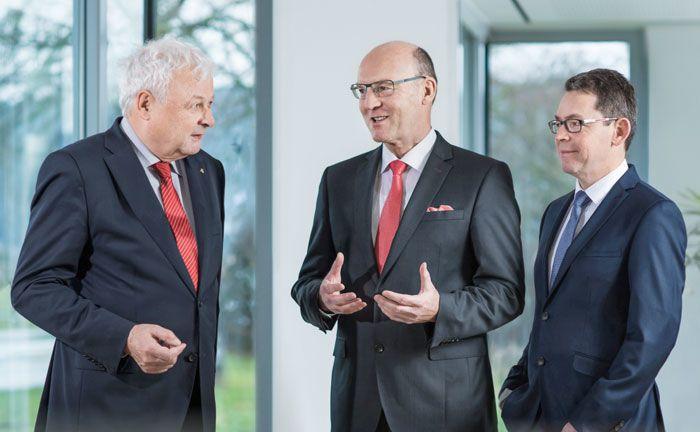Der Vorstand der Bank Schilling (v.l.n.r): Aloys Tilly, Matthias Busch, Thomas Ulsamer