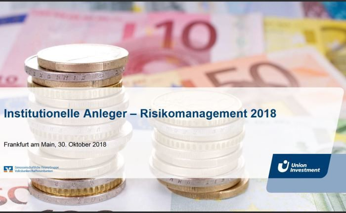 "Die Studie ""Institutionelle Anleger – Risikomanagement 2018"" von Union Investment 