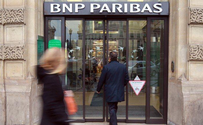 Eingang zu einer BNP-Niederlassung