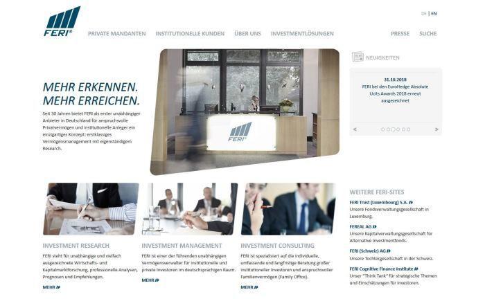 Webseite von Feri