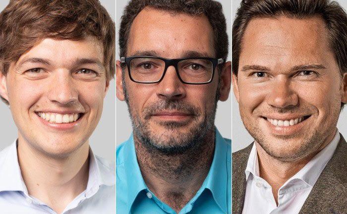 Ansgar Wigger (v.l.n.r.), Norman Volmer und der scheidende Sebastian Hasenack.