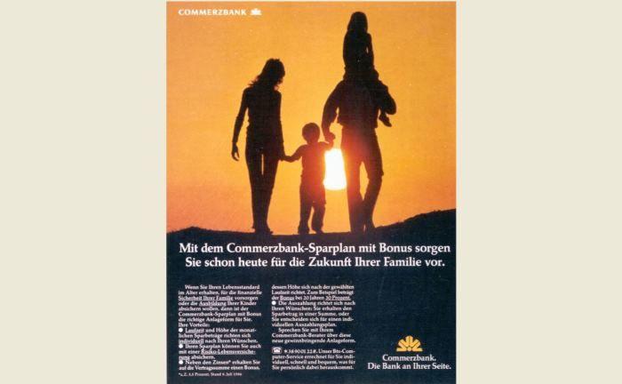 Die Zukunft ist jetzt: Commerzbank-Werbung aus dem Jahr 1984. |© Commerzbank AG