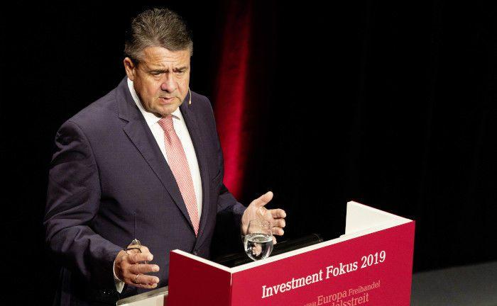 Sigmar Gabriel war einer der Keynote-Speaker auf dem Investment Fokus 2019, der jährlichen Konferenz von Lupus Alpha für institutionelle Anleger.|© Lupus Alpha