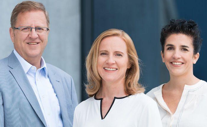 Das Whitebox-Team um die beiden Gründerinnen Birte Rothkopf (Mitte) und Salome Preiswerk sowie Andreas Sarasin, Leiter Portfoliomanagement, sucht am Hauptsitz Freiburg personelle Verstärkung.|© Whitebox