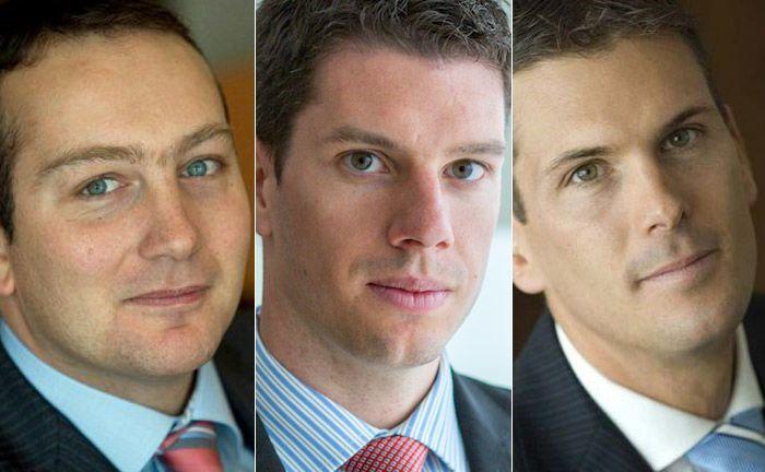 Arnaud Bisschop (v.l.n.r.), Nolan Hoffmeyer und Frédéric Dupraz|© Natixis