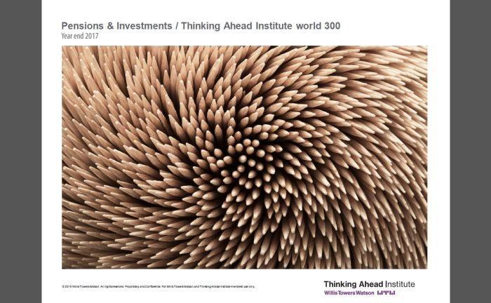 Studie von Willis Towers Watson: Insgesamt verwalteten die 300 größten Pension Funds Ende 2017 Vermögenswerte im Umfang von 18,1 Billionen US-Dollar.|© Willis Towers Watson