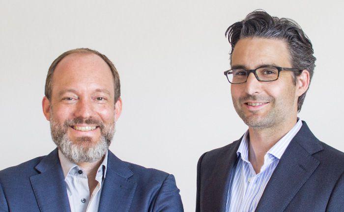 Thomas Bloch (l.) und Oliver Vins: Die beiden Vaamo-Gründer werden Mitglieder des Executive Committees von Moneyfarm. Bloch verantwortet das Deutschland-Geschäft und den Ausbau des europaweiten B2B-Geschäfts von Moneyfarm. Vins wird bei Moneyfarm gruppenweit zuständig für die Themen Produkt-Management und –Entwicklung.