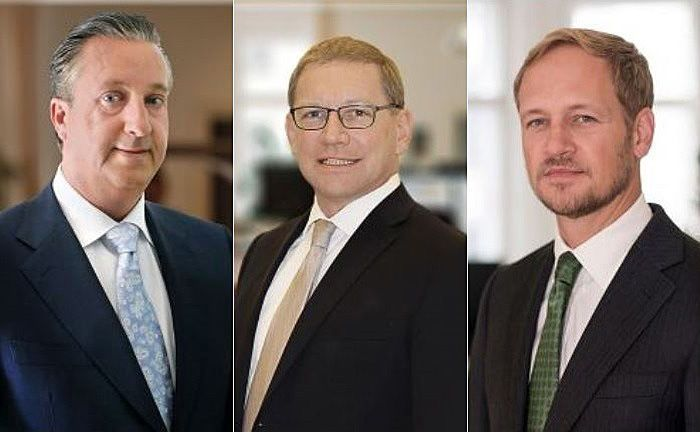 Frenk Heilmann (l.), Christian G. Lederer (M.) und Peer Ehnert.