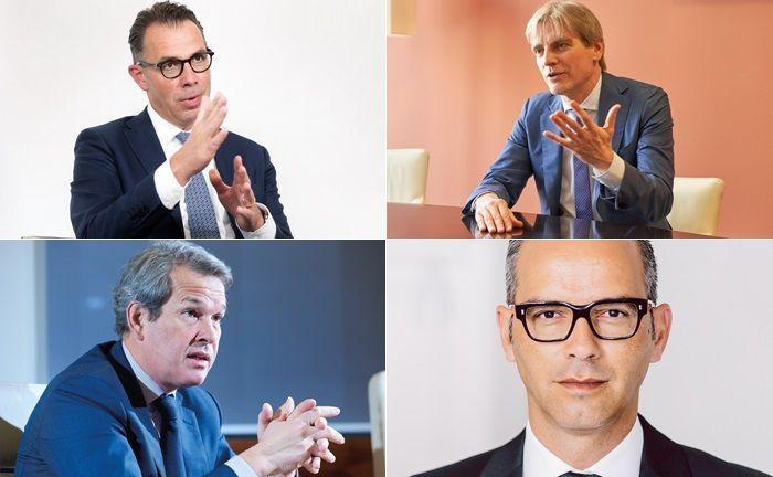 Gesprächspartner von großem Interesse (im Uhrzeigersinn, beginnend links oben): Thomas Rodermann, Heiko Schlag, Artur Montanhas und Hans Hanegraaf.