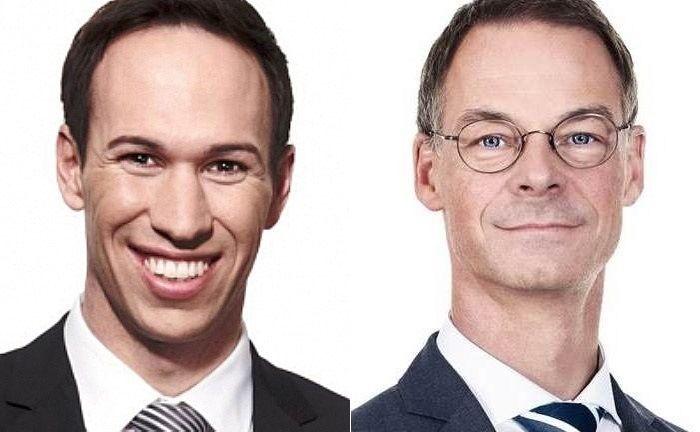Alexander Stehle (l.) und Heinrich Hartmann verlassen das Internationale Bankhaus Bodensee. |© IBB