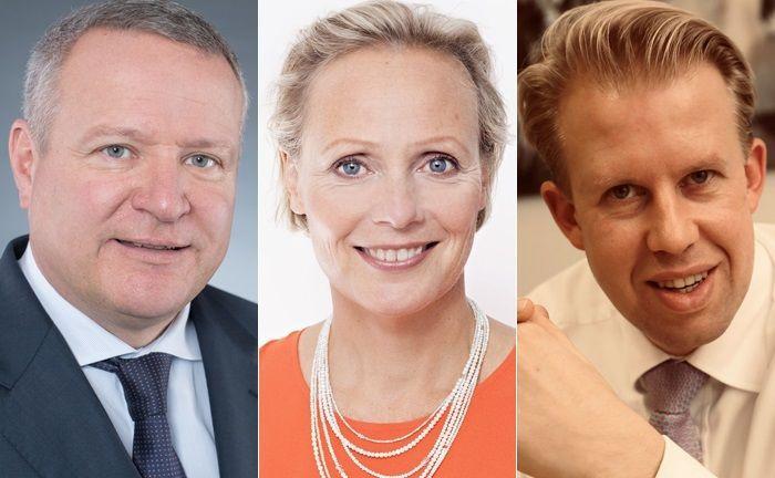 Drei der zehn befragten Personalberater: Wolfgang Morgenstern (l.), Karin Schambach und Klaus Biermann|© Indigo Headhunters, Oprandi, Biermann Neff