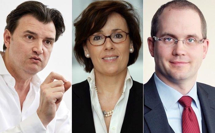 Drei der neun befragten Personalberater: Dražen Mario Odak (l.), Heike Schwesinger und Marc Viebahn.