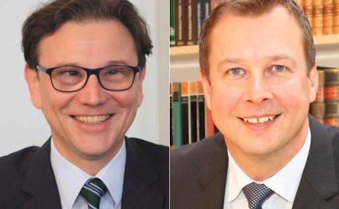 Die beiden Stiftungsvorstände Michael Egner-Walter (li.) und Christian Fischl von Huber, Reuss & Kollegen. |© Huber, Reuss & Kollegen