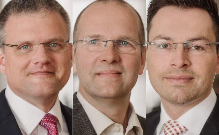 Thomas Pass (v.l.n.r.), Uwe Günther und Sven Marzahn