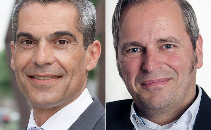 Muhyddin Suleimann (l.) scheidet auf eigenen Wunsch beim Vermögensverwalter Performance IMC aus. Zu seinem Nachfolger als Vorstandschef haben die Mannheimer Armin Spöttl berufen.