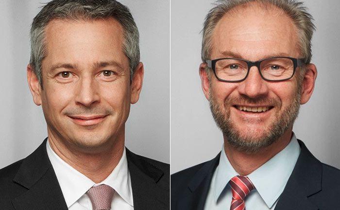 Führen die Münchner Niederlassung der Bethmann Bank gemeinsam: Jürgen Müller (li.) und Kurt Halmburger.|© Bethmann Bank