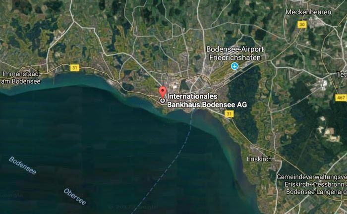 Arbeiten mit Blick auf den Bodensee: Das IBB bei Google Maps. |© Google Maps