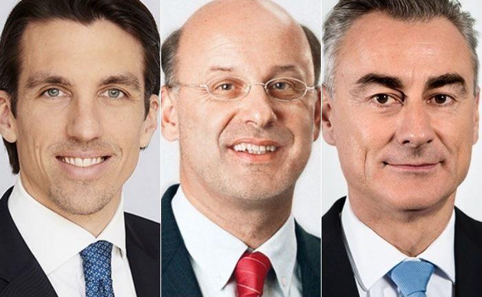 Neuzugang Stefan Neubauer (l.) sowie die bestehenden Vorstandsmitglieder Harald Thury (M.) und Harald Holzer. |© Kathrein Privatbank