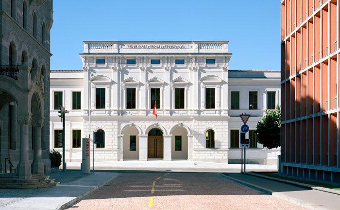 Das Bundesstrafgericht im schweizerischen Bellinzona: In einem entscheidenden Anklagepunkt folgte die Richterin nicht dem Antrag der Staatsanwaltschaft.  |© Bundesstrafgericht Bellinzona