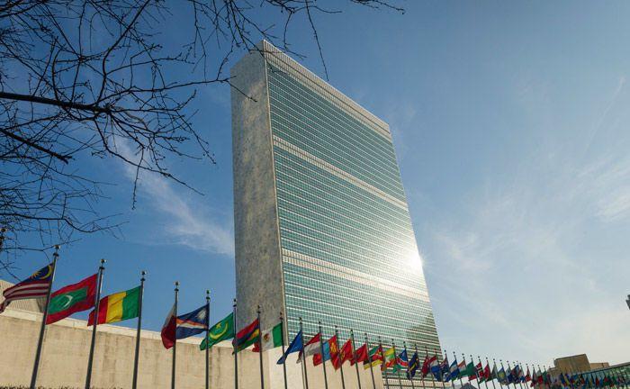 Das Sekretariatshochhaus ist das Markenzeichen des UN-Hauptquartiers in New York: Der Investmentmanager Sky Harbor nimmt am weltweiten Pakt Global Compact der Vereinten Nationen mit Unternehmen teil.|© UN Photo/Rick Bajornas