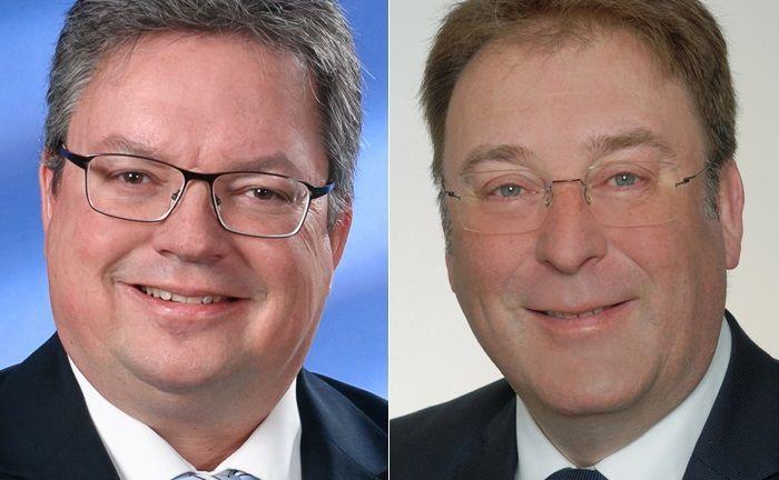 Tobias Haspel (l.) und Andreas Knauer werden die beiden neuen Teams, die von der Südwestbank zu Merck Finck wechseln, leiten.