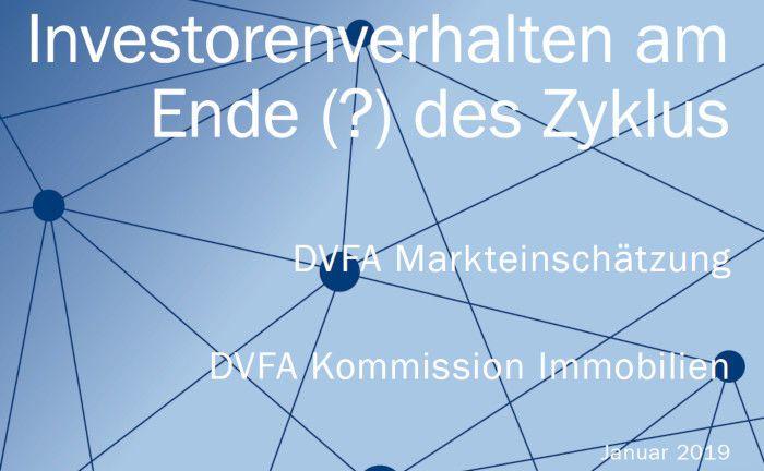 Die DVFA analysiert das Verhalten professioneller Anleger im aktuellen Immobilienzyklus.