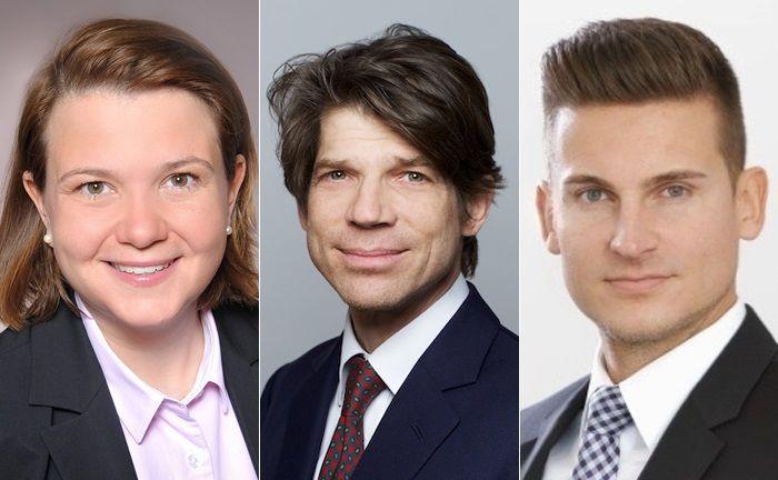 Susanne de Stigter stößt zum Frankfurter Spudy-Team. Carl-Theodor Graf zu Toerring-Jettenbach (M.) und Florian Marx nehmen am neuen Münchner Standort des Multi Family Office ihre Arbeit auf.