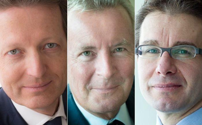 Renaud de Planta (l.), Nicolas Pictet (M.) und Sébastien Eisinger.