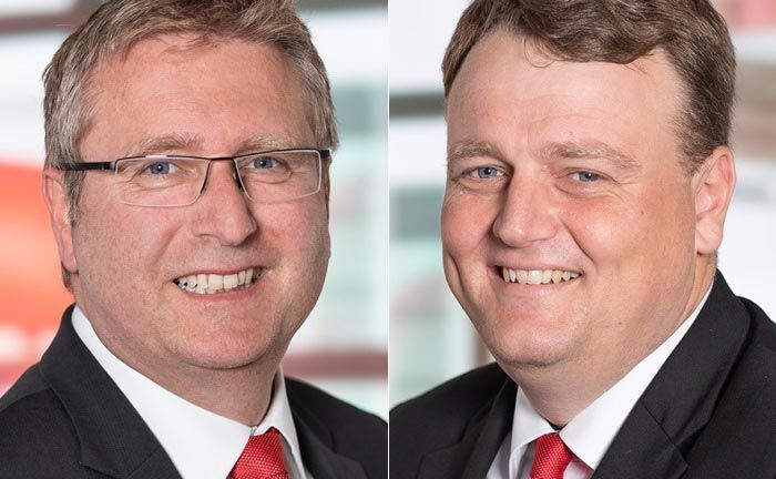 Das neue Führungsduo: Michael Hammer (l.) und Marc Barber. |© Sparkasse Mainz