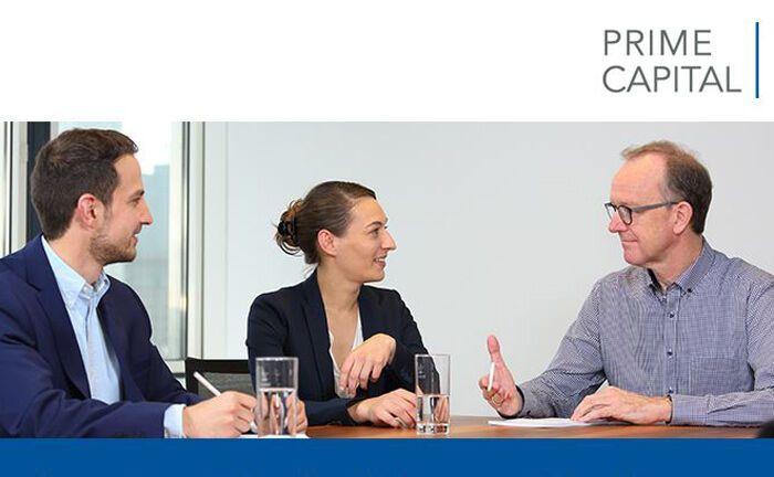 Screenshot der Stellenanzeige des Finanzdienstleisters Prime Capital.