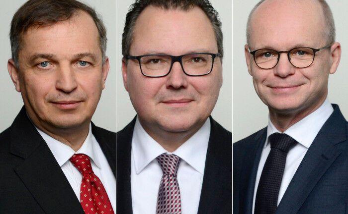 Die Reax-Vorstände (v.l.n.r.) Ulrich Nack, Heiko Böhnke, Jörn Zurmühlen.