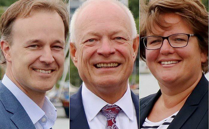 Thorsten Sprenger (v.l.n.r.),  Stefan Rothhardt und Simone Hogrebe.