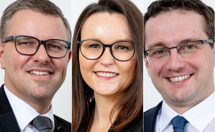 Das Team von KRE Finance: Klaus Eurich (v.l.n.r.), Franziska Kohl und Christoph Rommel. |© KRE Finance