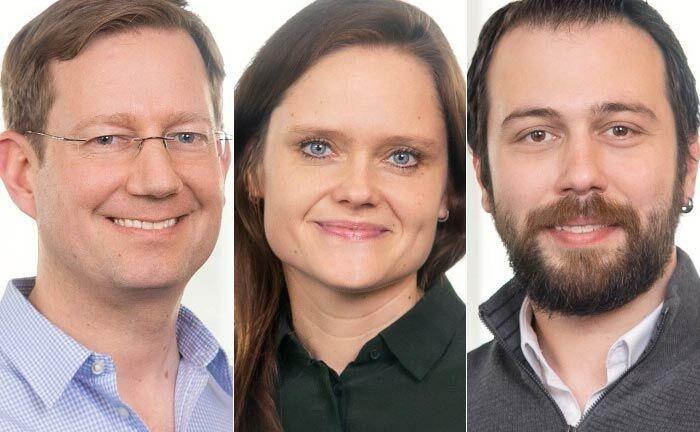 Das Führungsteam des fusionierten Unternehmens: Der bisherige Finreach-Chef Markus Dränert (v.l.n.r.), Risikochefin Cornelia Schwertner und Taner Akcok als Produktverantwortlicher.