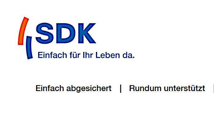 Die Süddeutsche Krankenversicherung gehört ebenso wie die Süddeutsche Lebensversicherung und die Süddeutsche Allgemeine Versicherung zur SDK-Unternehmensgruppe. |© Screenshot