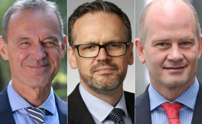 Ewald Stephan, Nigel Cresswell, Christof Kessler (v.l.n.r.)