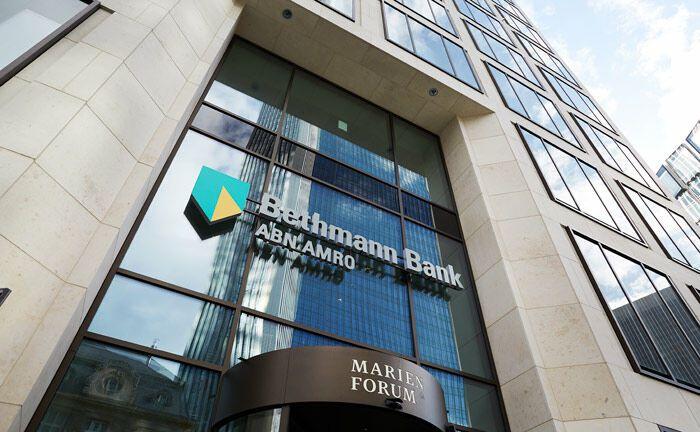 Eingang zum neuen Bethmann-Hauptsitz im Marienforum in Frankfurt am Main|© Bethmann Bank