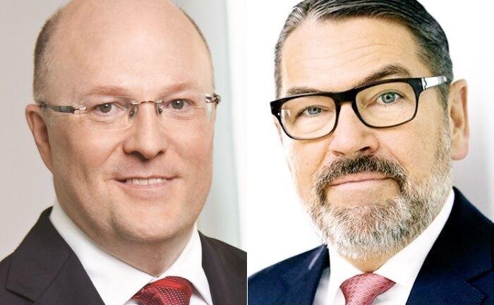 Der amtierende Vorstandschef Michael Rüdiger (r.) und sein designierter Nachfolger Georg Stocker. |© Dekabank