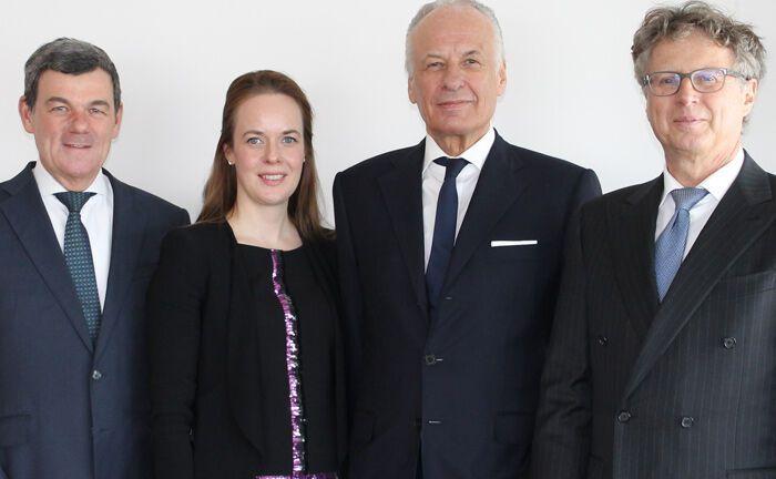 Neu gegründeter Verwaltungsrat des Immobilienunternehmens Becken (v.l.): Klaus Kuder, Nadine Becken, Dieter Becken und Rainer Stockmann|© Becken Holding