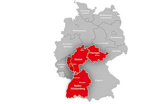 Geschäftsgebiet der SV-Sparkassen-Versicherung |© SV-Sparkassen-Versicherung