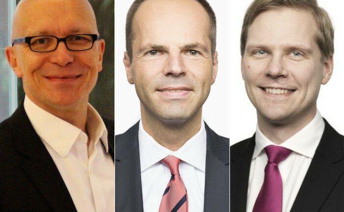Jürgen Baudisch, Michael Leitzbach und Sakari Järvelä (v.l.n.r.) komplettieren das Führungsgremium der SEB-Bank in Deutschland.|© SEB