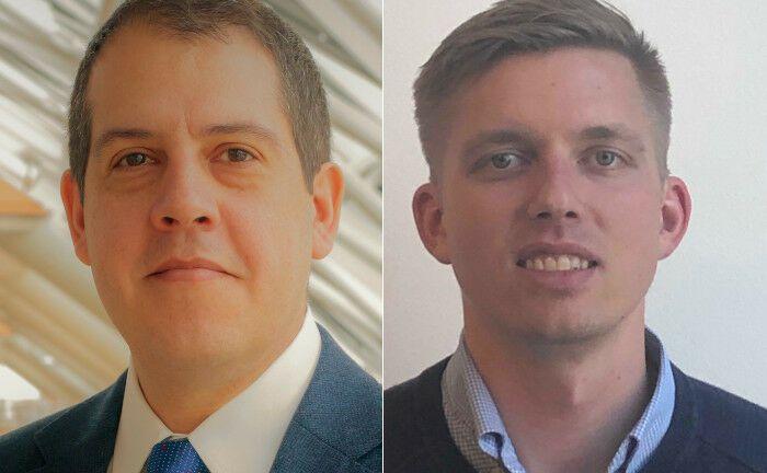Neu bei Aegon Asset Management: Brunno Maradei (li.) und Julius Huttunen.