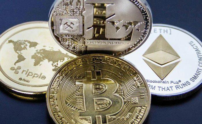 Ripple, Litecoin, Bitcoin, Ethereum: Für drei dieser vier digitalen Währungen hat Vontobel bereits ein Zeirtifikat herausgegeben.|© Worldspectrum