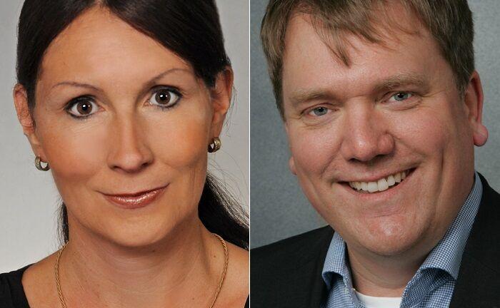Gösta Jamin (r.) und Stefanie Hehn lehren an der Hochschule für Wirtschaft und Gesellschaft Ludwigshafen am Rhein.|© Jamin/Hehn