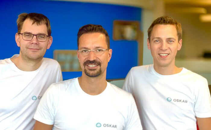 Dominik Nienhaus, Jens Ohr und Peter Schille (v.l.n.r), Gründer des Robo-Advisors Oskar.de
