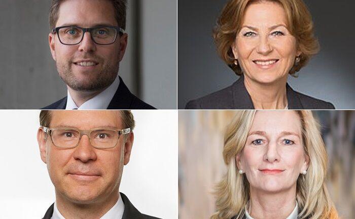 Im Uhrzeigersinn, beginnend links oben: Steffen Schill, Sigrid Hark, Eva Maria Donsbach und Kevin Schaefers